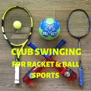 Indian clubs for tennis badminton and handball