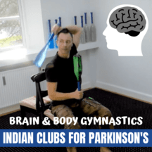 Parkinson brain gym exercises with indian clubs