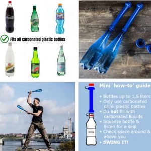 use plastic bottles with pahlavandle to make Indian clubs